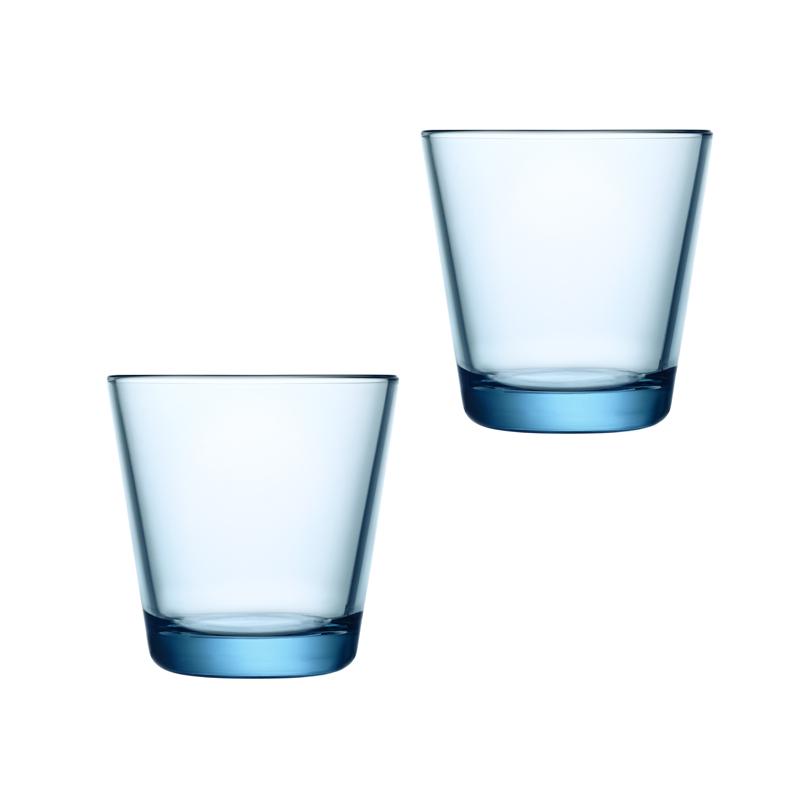 Iittala Kartio Glas 21 cl Ljusblå 2-pack