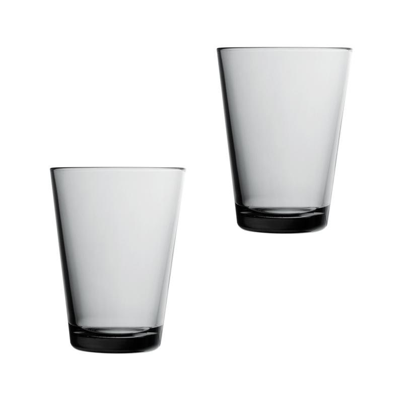 Iittala Kartio Glass 40 cl Grå 2-pack