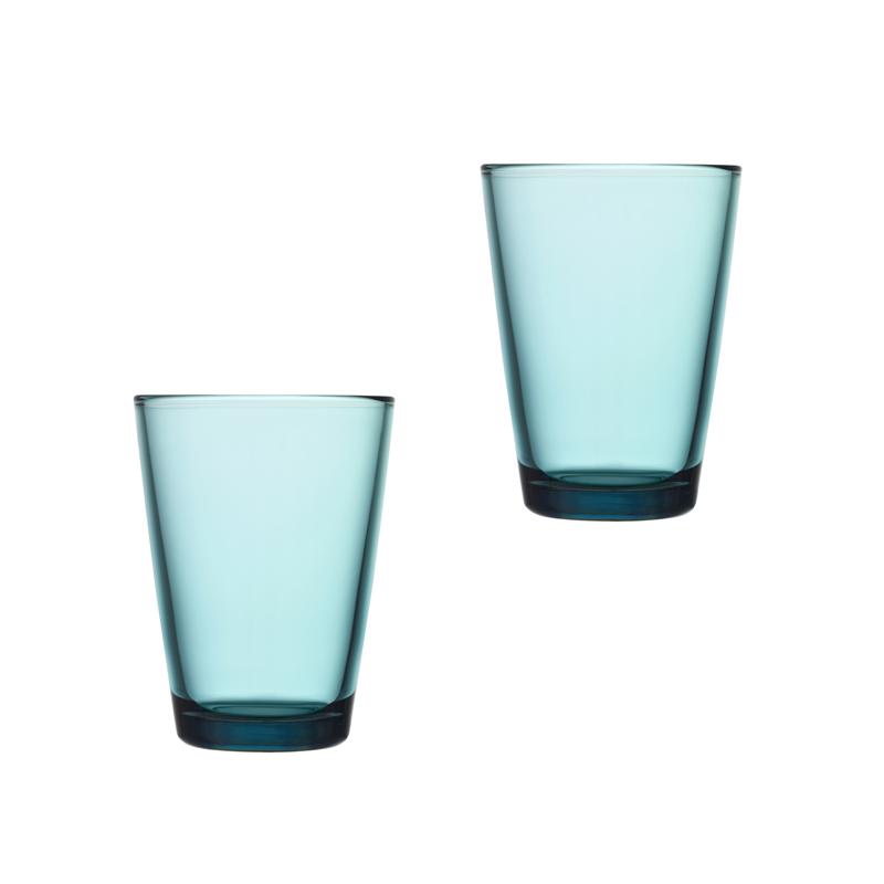 Iittala Kartio Glas 40 cl Havsblå 2-pack