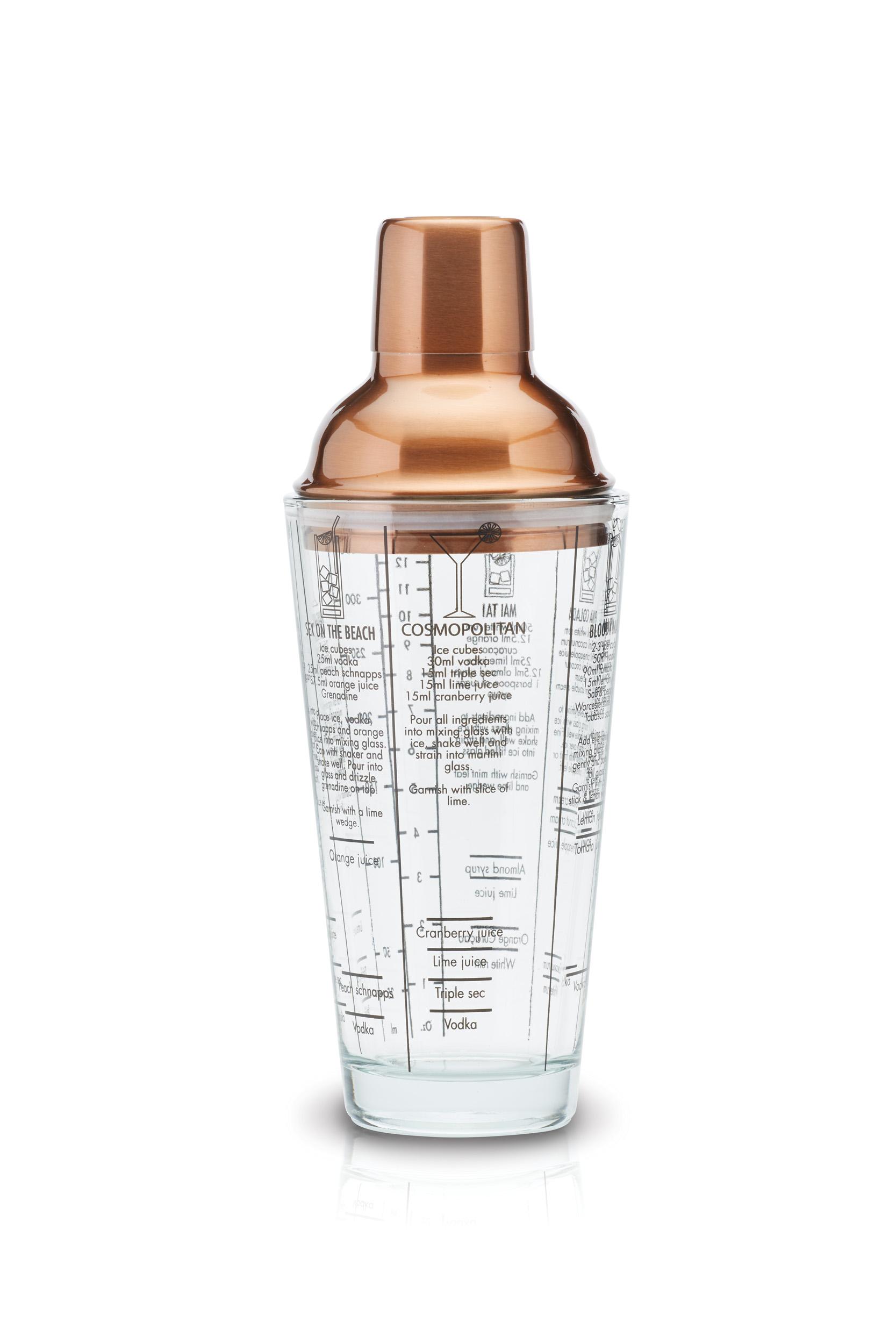 Kitchen Craft Boston Cocktail Shaker Glas och koppar 650 ml