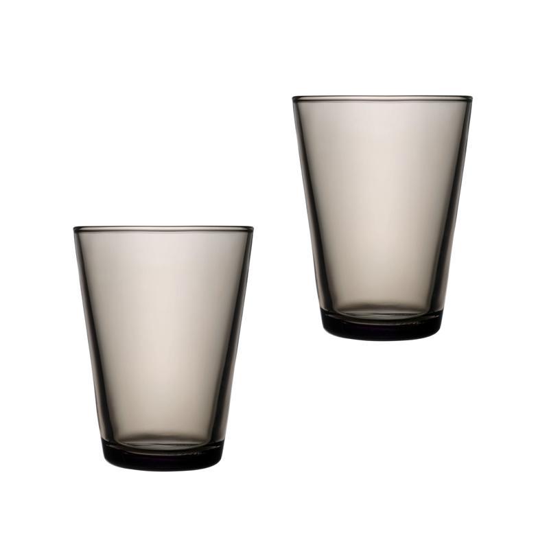 Iittala Kartio Glass 40 cl Sand 2-pack