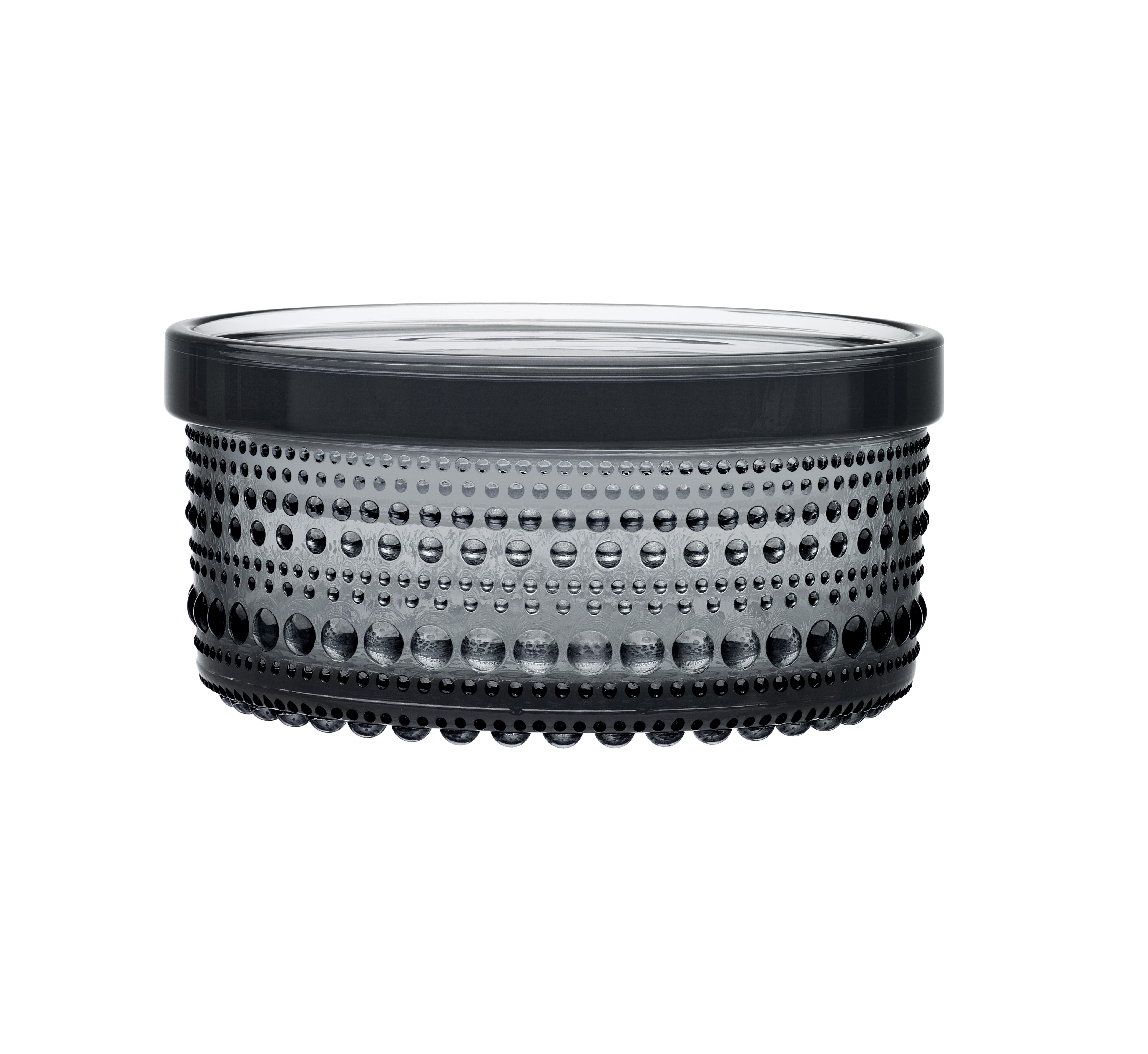 Iittala Kastehelmi Burk 116×57 mm Grå