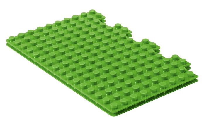 Placematix Barnunderlägg för byggklossar Twin Grön