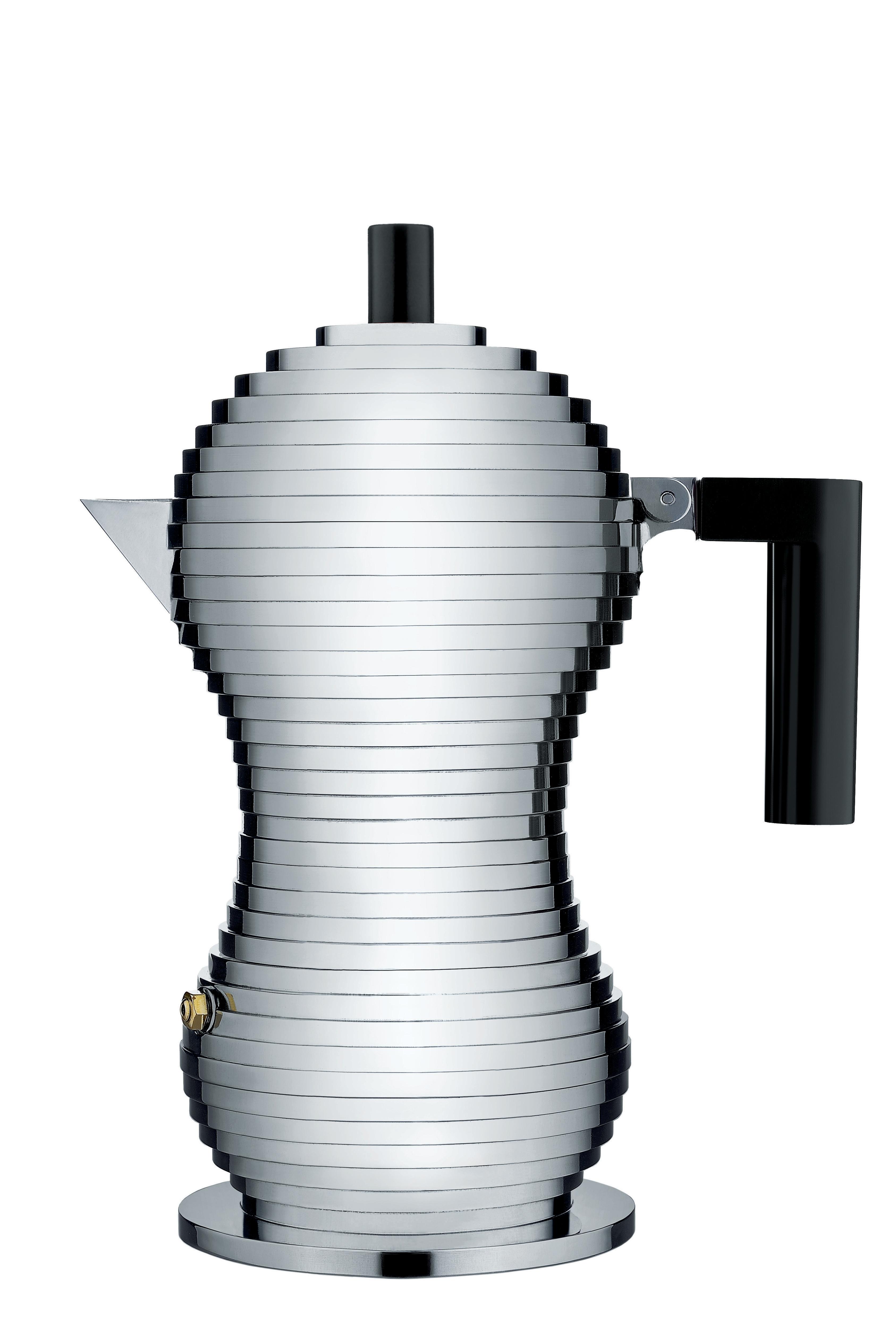Alessi Mokabryggare Aluminium/Svart Medium 15 cl