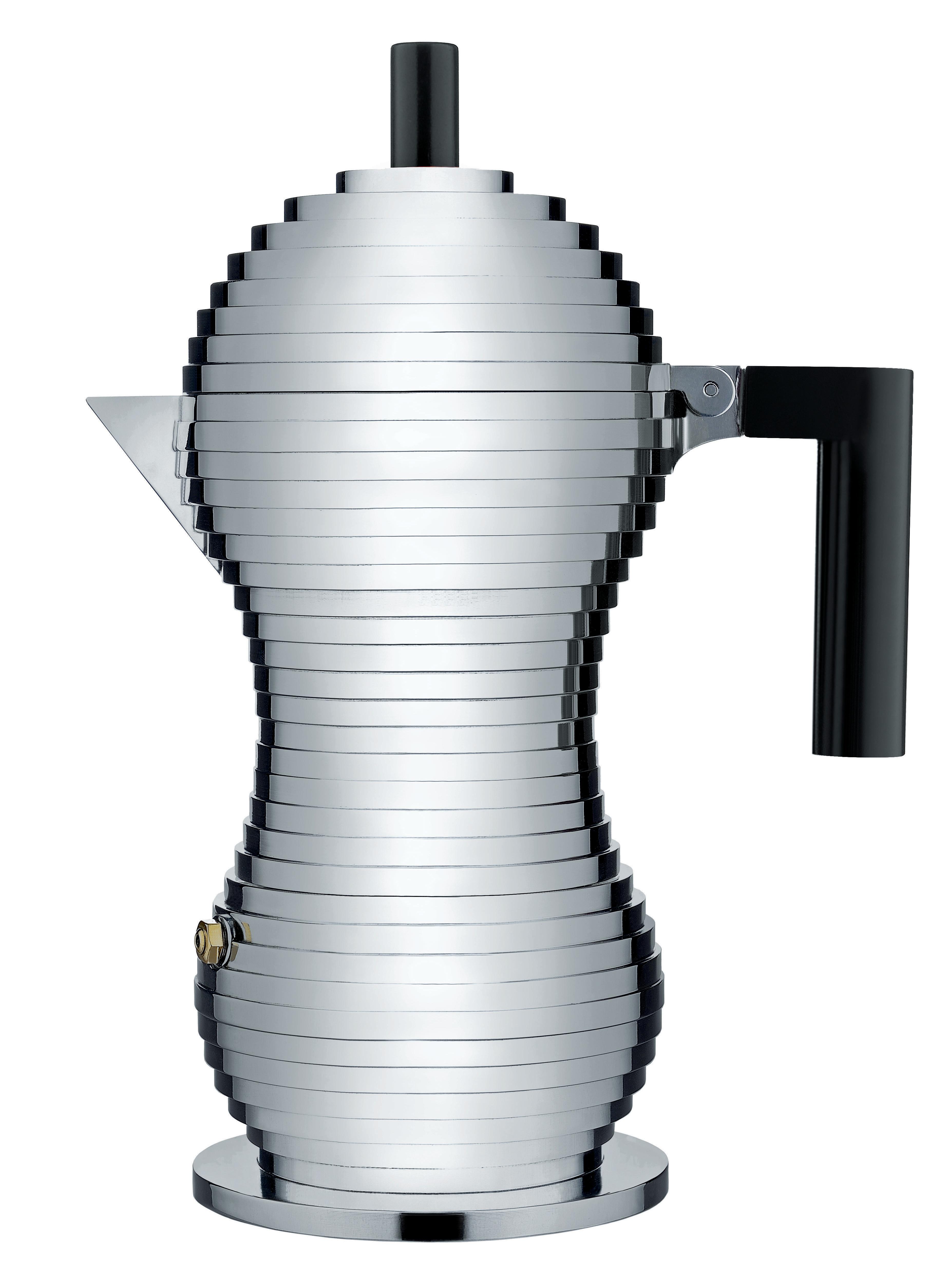 Alessi Mokabryggare Aluminium/Svart Large 30 cl