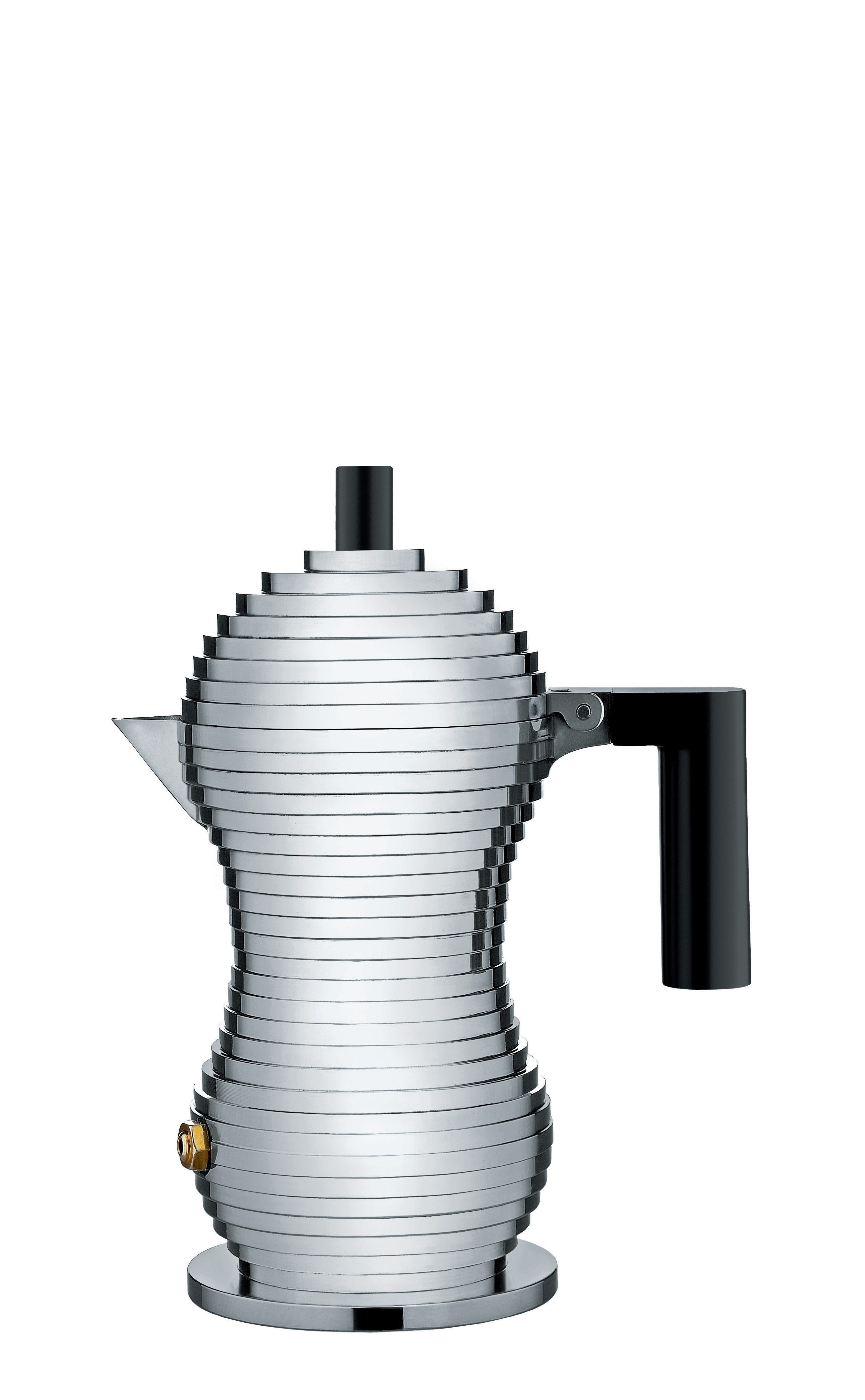 Alessi Mokabryggare Aluminium/Svart Small 7 cl