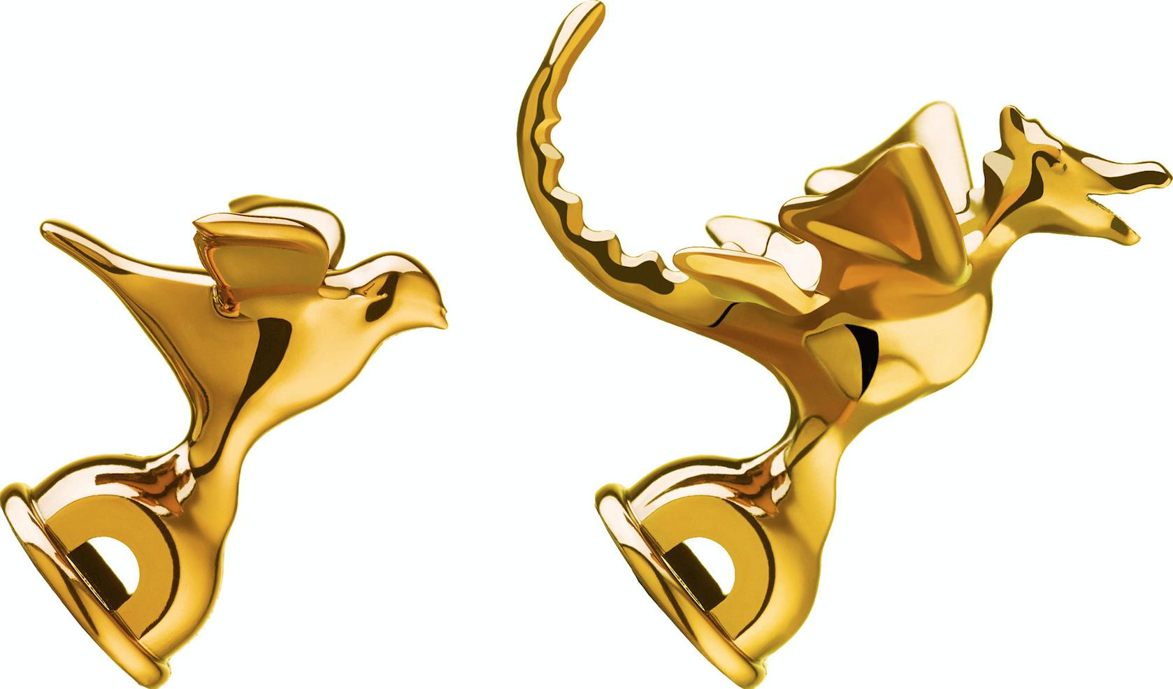 Alessi Pipkittel Visslor Guld 2 st