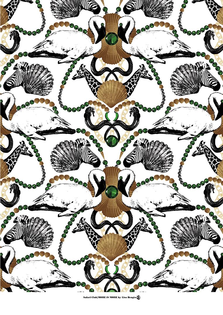 Lisa Bengtsson Poster Safari Club A3