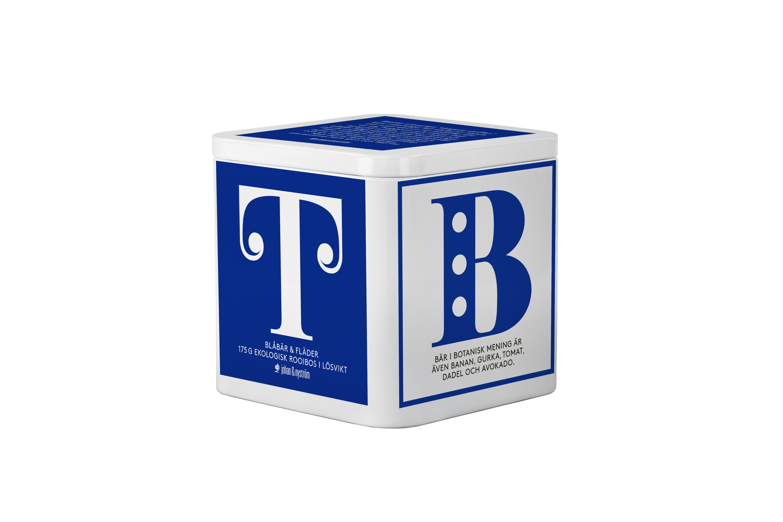 Johan & Nyström T-TE Blåbär & Fläder Ekologiskt Rooibos Te 175g Plåtbox