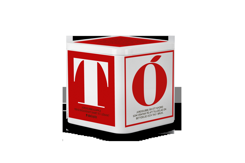 Johan & Nyström T-TE Jordgubbe & Äpple Ekologiskt Svart Te 150g Plåtbox