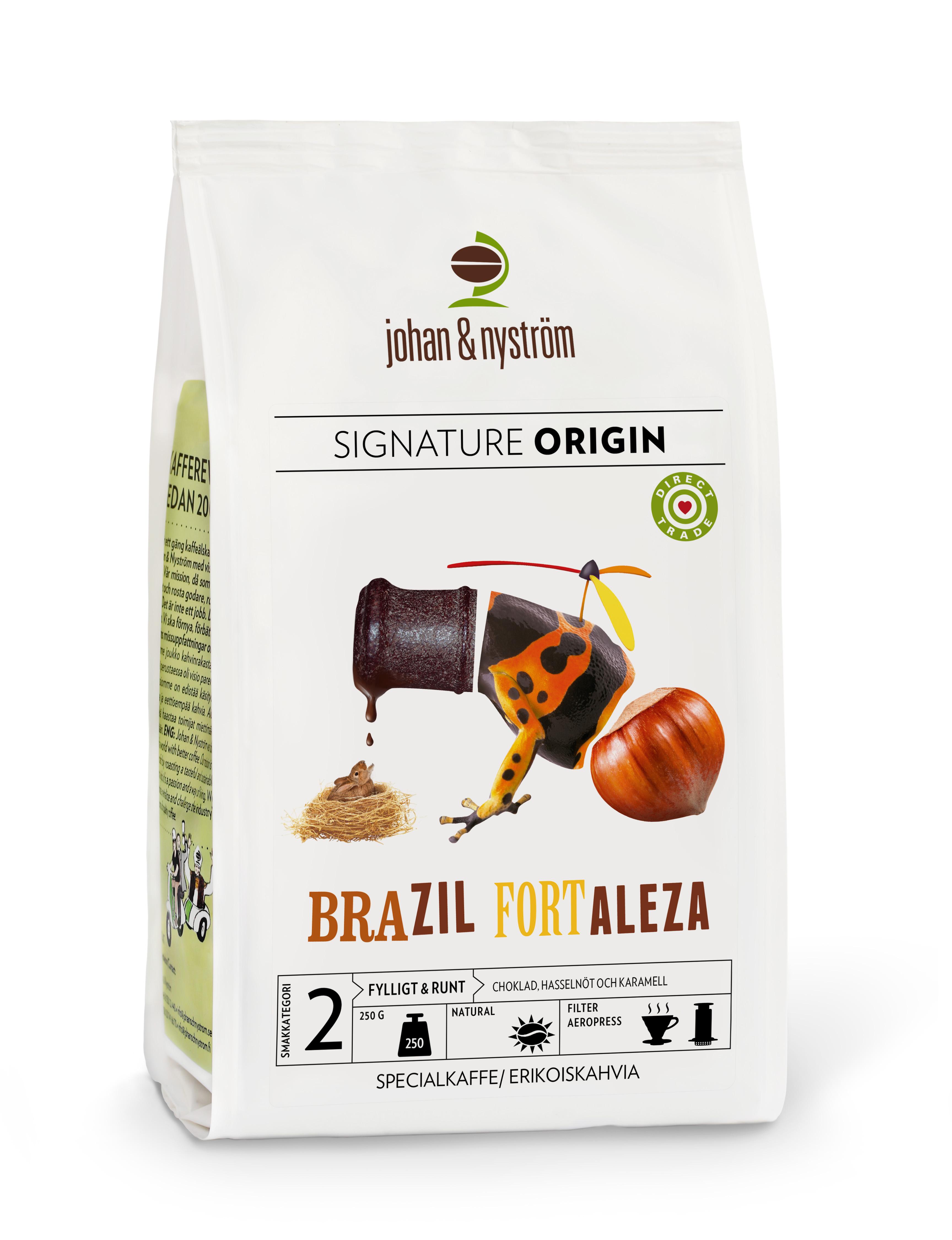 Johan & Nyström Brazil Fortaleza Hela Bönor 250 g