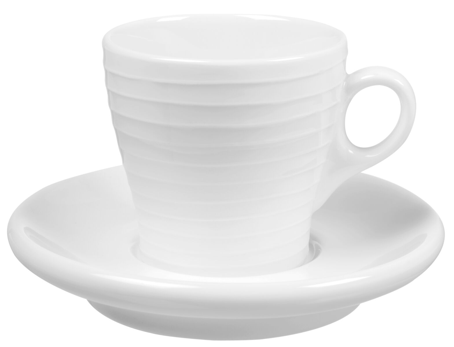 Design House Stockholm Blond Espressokopp med Fat Vit/Randig 10 cl