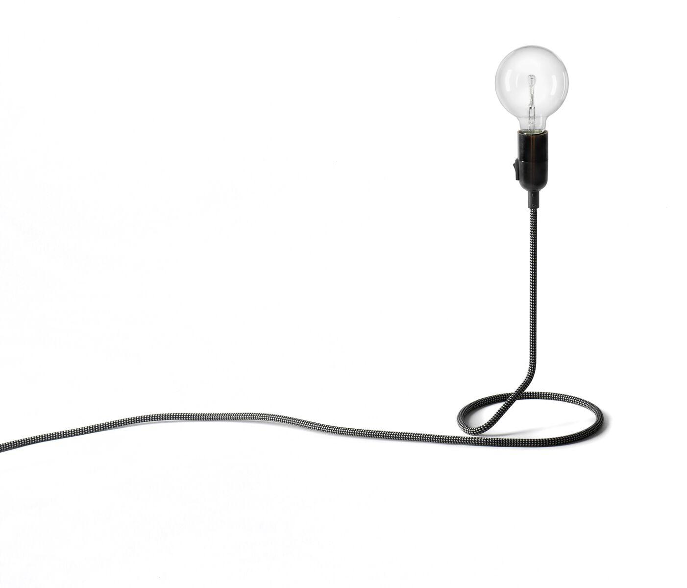 Design House Stockholm Cord Lampa Mini Svart/Vit 48 cm