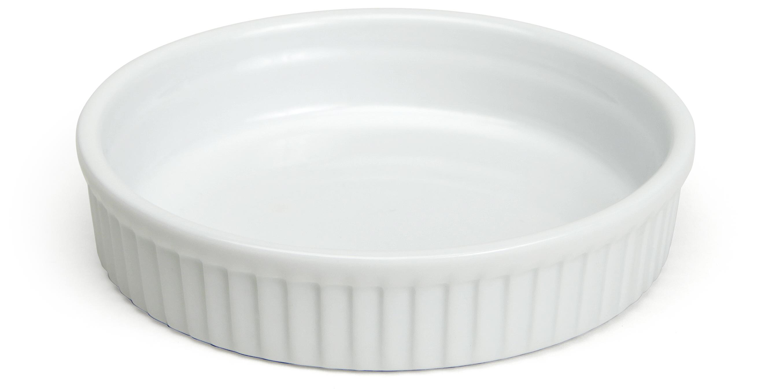 Porslinsform Vit Låg 11,5 cm