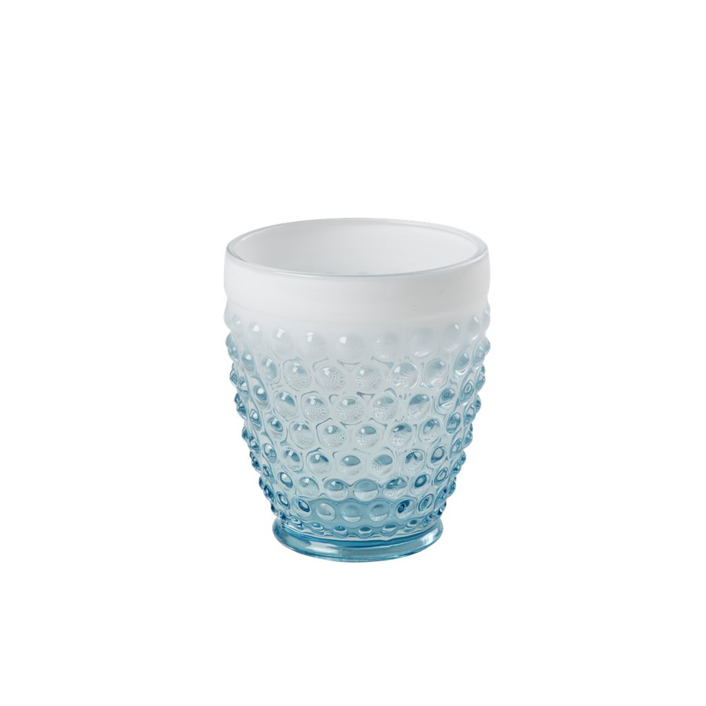 Rice Glas Bubblor Turkos/Vit