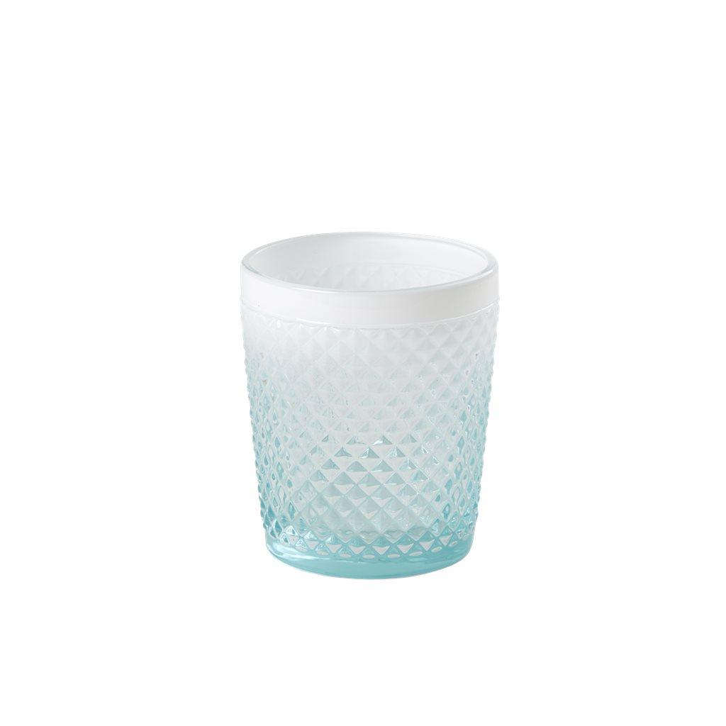 Rice Glas Fasetterad Mint/Vit