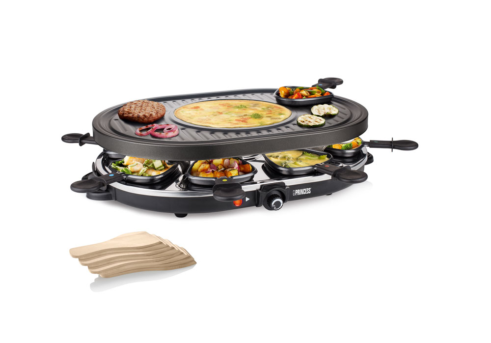 Princess Raclette 8 Oval Grill Party