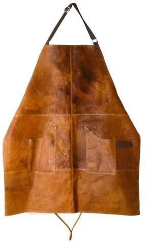 Skinnförkläde Vaxat Buffelskinn Brunt