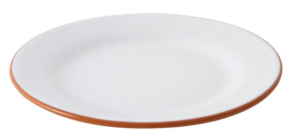 ERNST Porslin Vit/Terracotta Assiett
