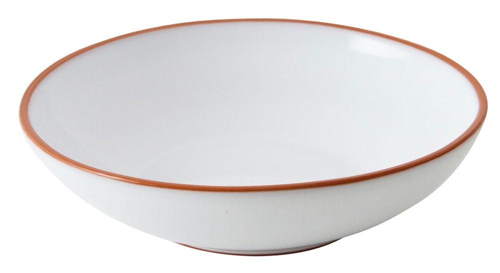 ERNST Porslin Vit/Terracotta Djup Tallrik