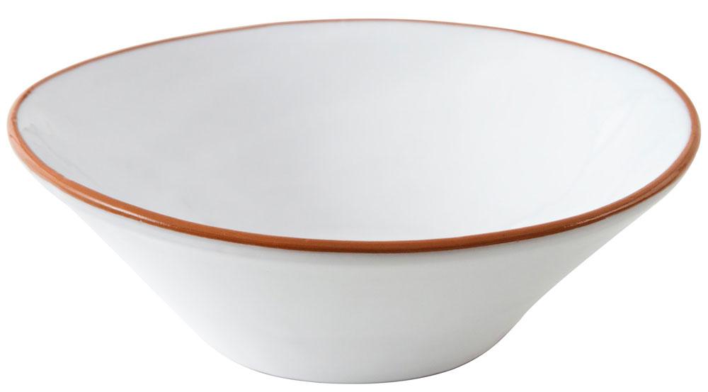 ERNST Porslin Vit/Terracotta Stor Skål