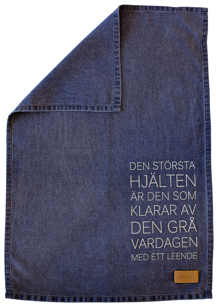 ERNST Kökshandduk 'Största Hjälten' Blå