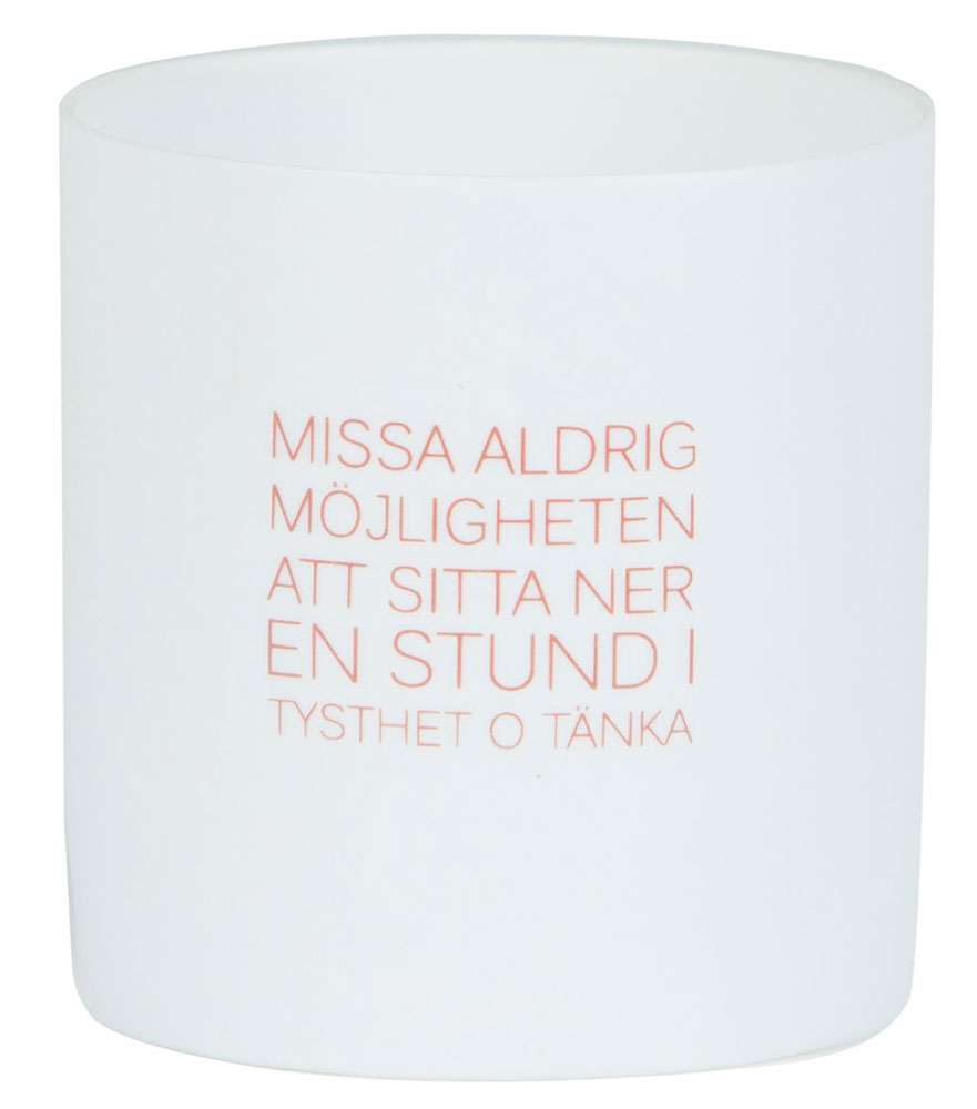 ERNST Ljuslykta Porslin 'Missa Aldrig'