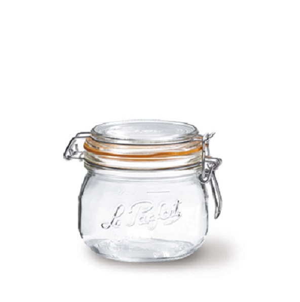 Glasburk med patentlock 025 liter
