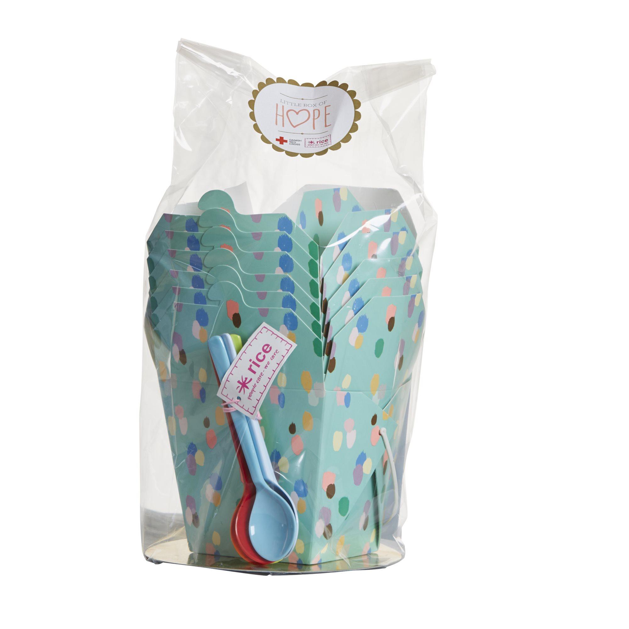Box of Hope Presentförpackning Matboxar och Melaminskedar