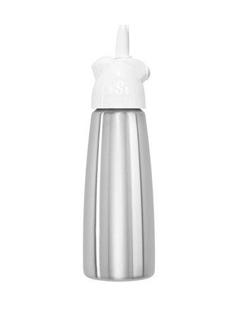 iSi Easy Whip Gräddsifon plus rostfritt stål 0,5 liter Vit
