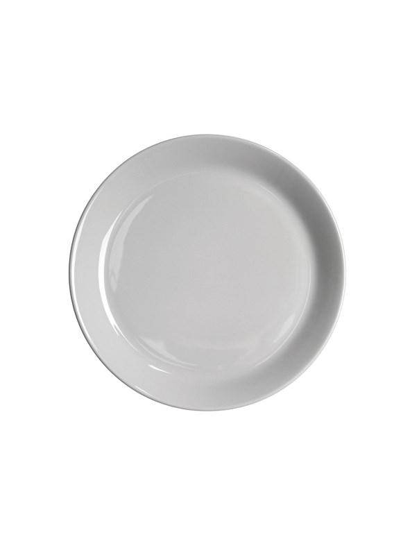 Höganäs Keramik Assiett med kant 20 cm Kiselgråblank