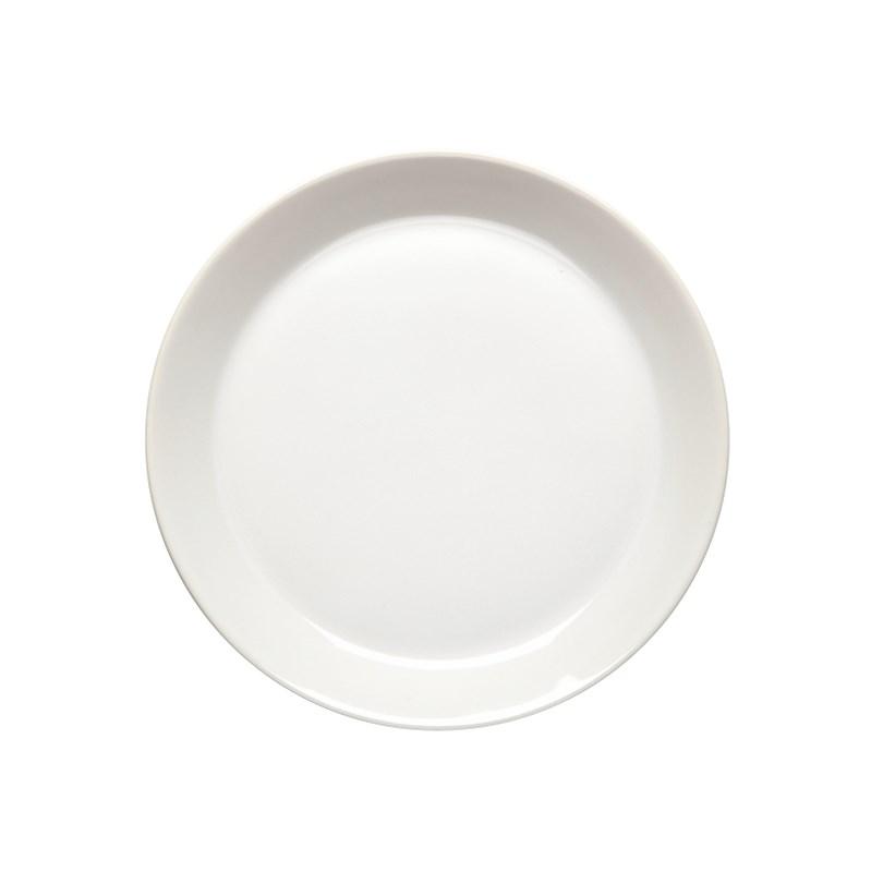 Höganäs Keramik Assiett 20 cm med kant Vit blank