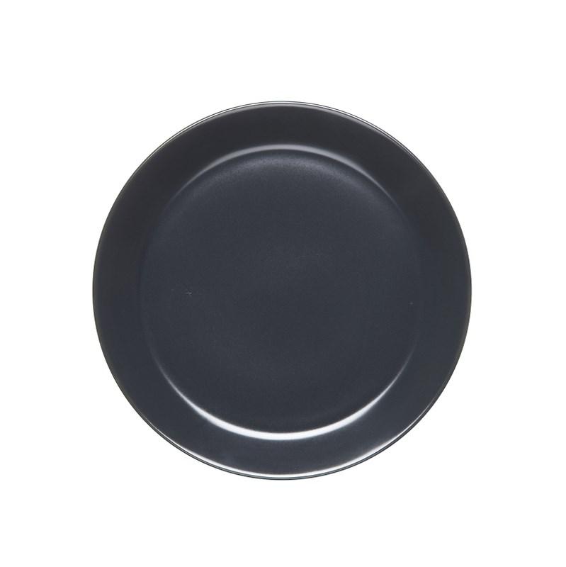 Höganäs Keramik Assiett 20 cm med kant GrafitgråMatt