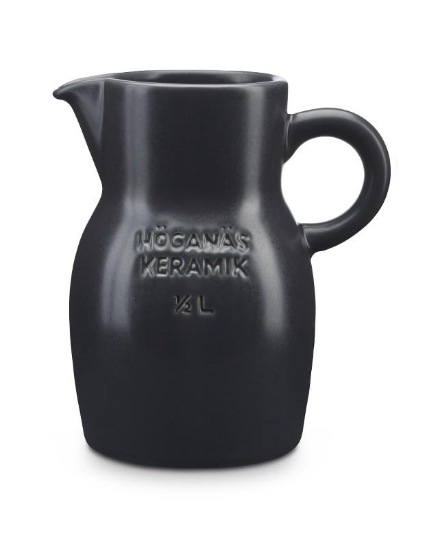 Höganäs Keramik Kanna 50 cl Grafitgrå Matt