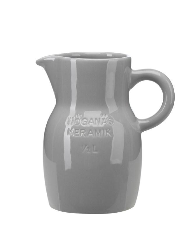 Höganäs Keramik Kanna 50 cl Kiselgrå blank