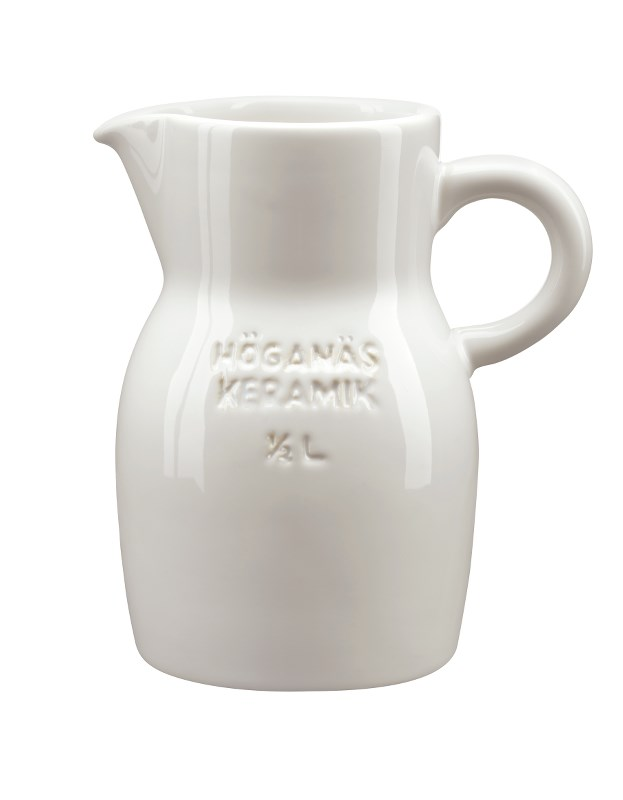 Höganäs Keramik Kanna 50 cl Vit blank