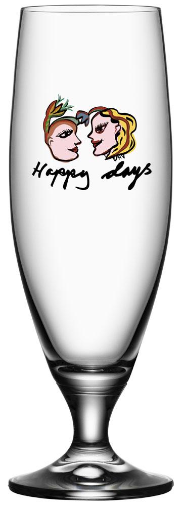Kosta Boda Friendship Ölglas Happy Days 50 cl
