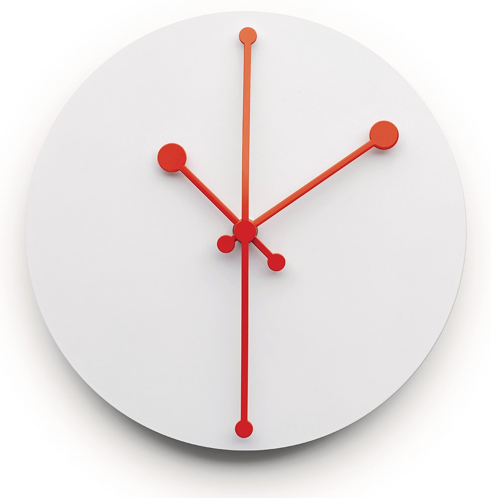 Alessi Dotty Clock Väggklocka Vit