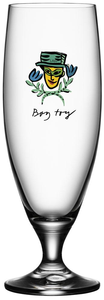 Kosta Boda Friendship Ölglas Boy Toy