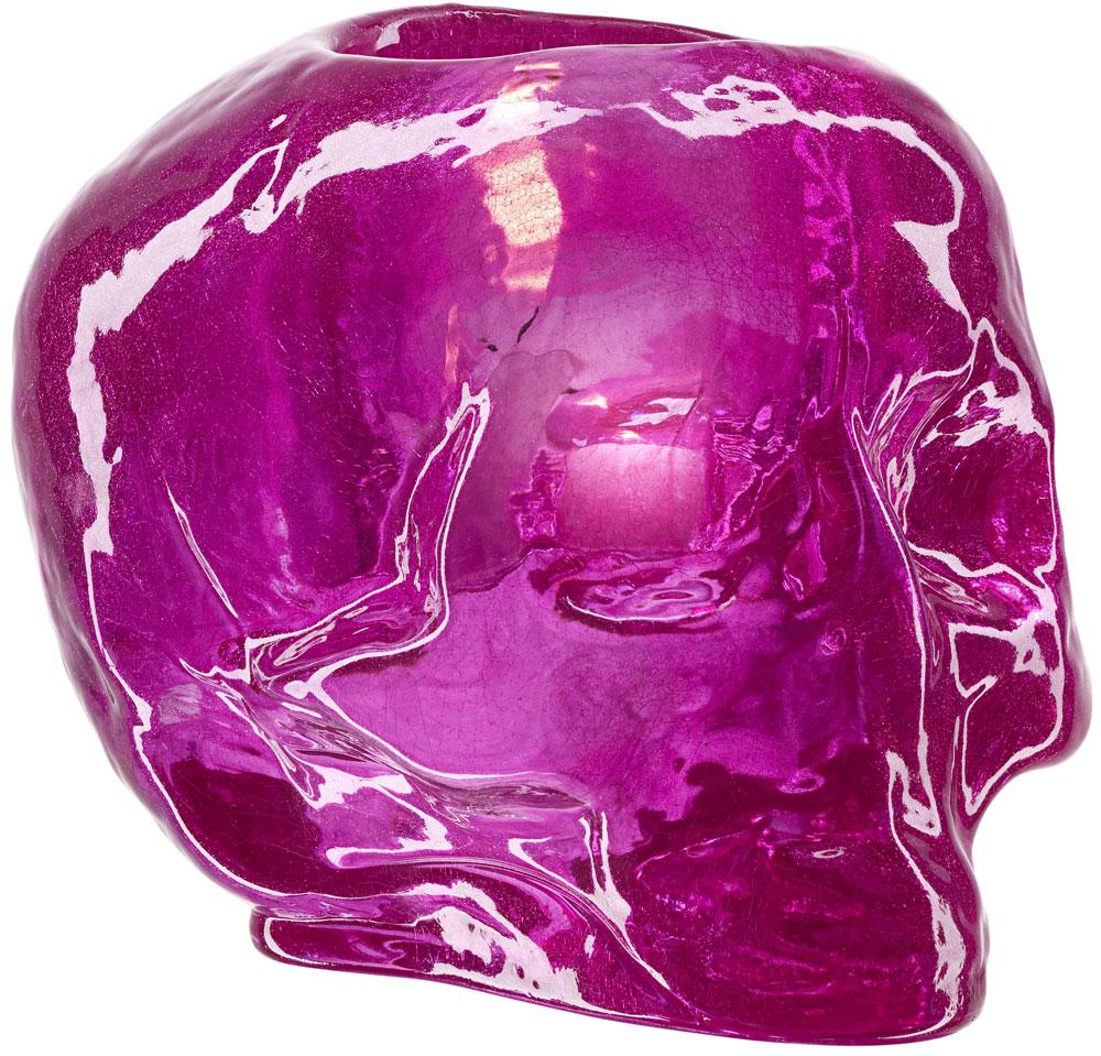 Kosta Boda Still Life Skull Ljuslykta Rosa