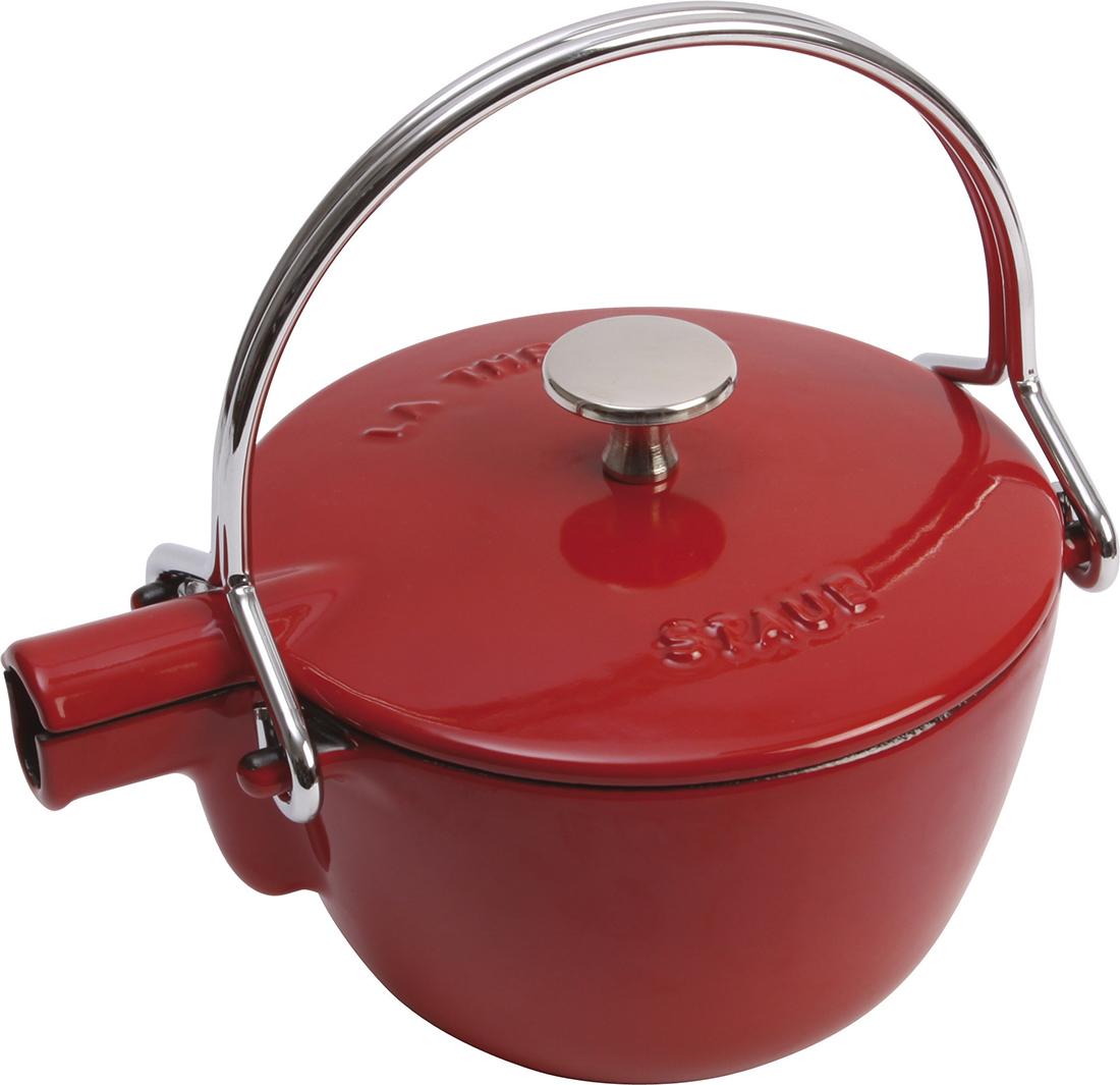Staub Tekanna Rund 1,15 Liter, Röd