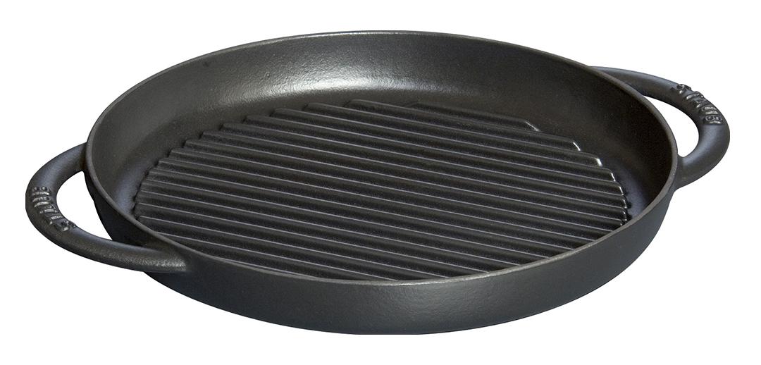 Staub Pure Grill Grillpanna Rund 26 cm Svart