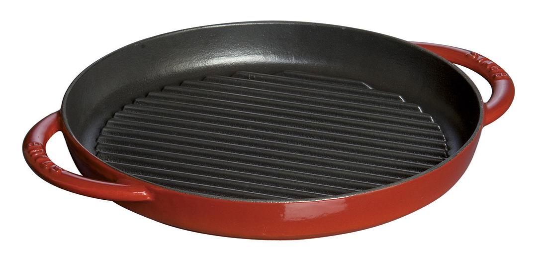 Staub Pure Grill Grillpanna Rund 26 cm Röd