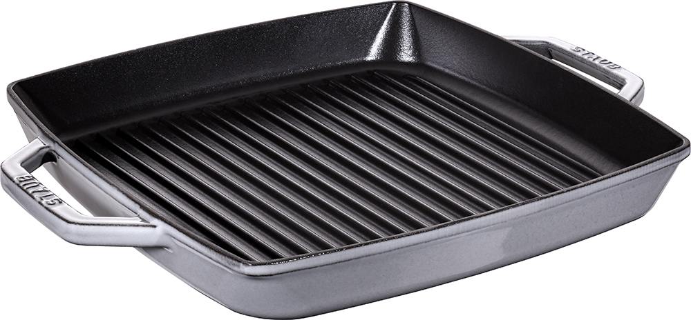Staub Pure grill kvadratisk 33 cm grå