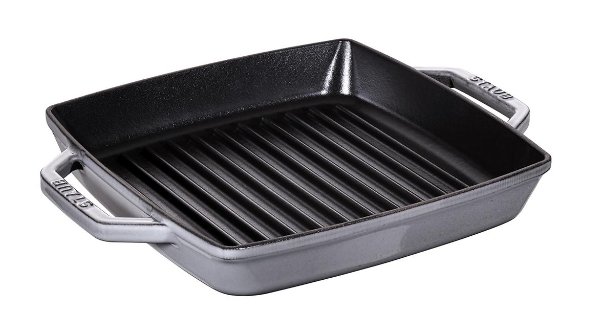 Staub Pure grill kvadratisk 23 cm grå