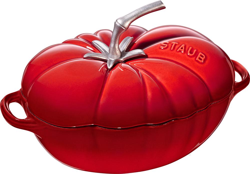 Staub Tomat Gjutjärnsgryta 2,5 liter, Röd