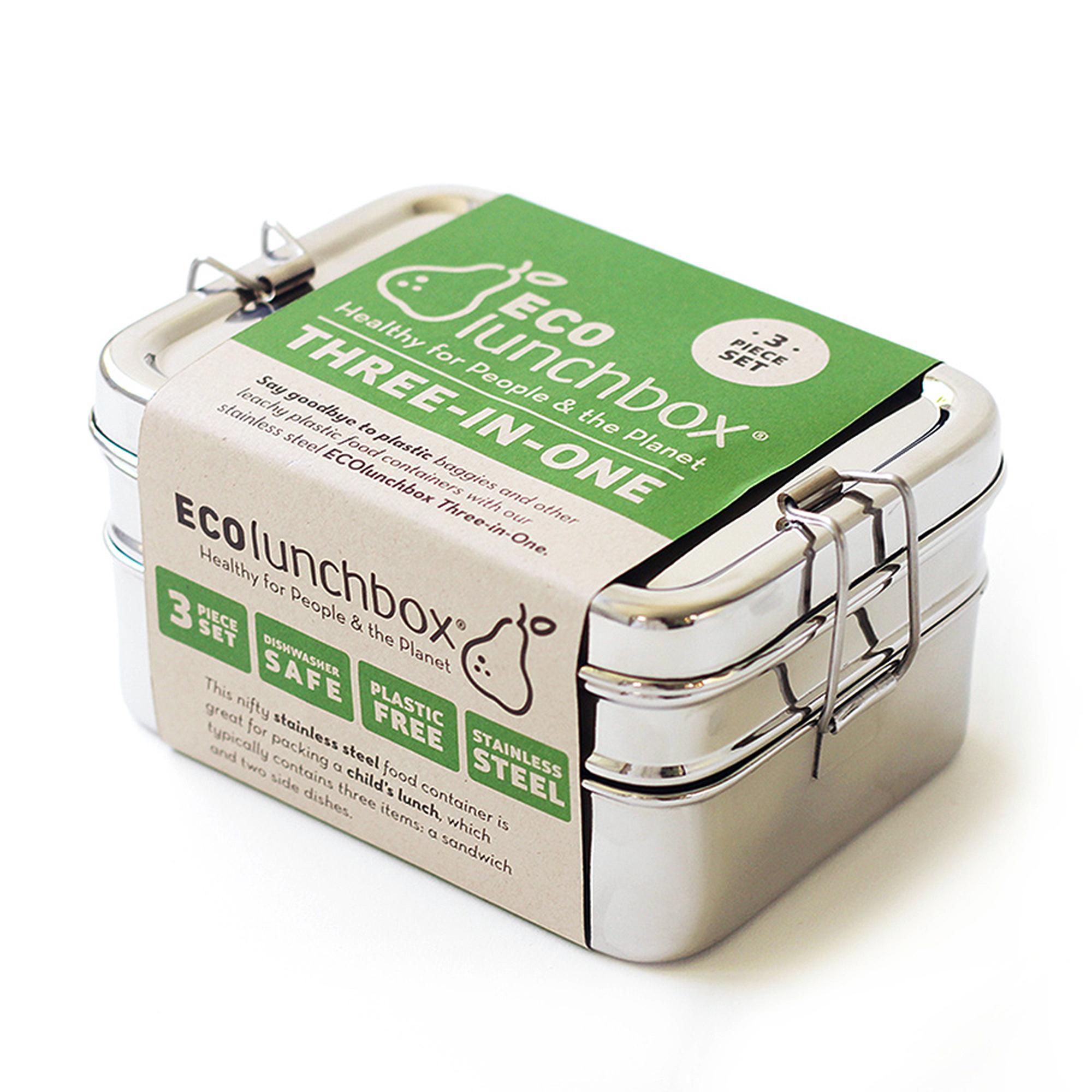 ECO Lunchbox Tre-i-Ett Matlåda Rostfritt Stål