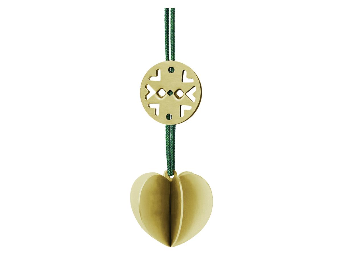 Stelton Nordic julornament hjärta mini – mässing