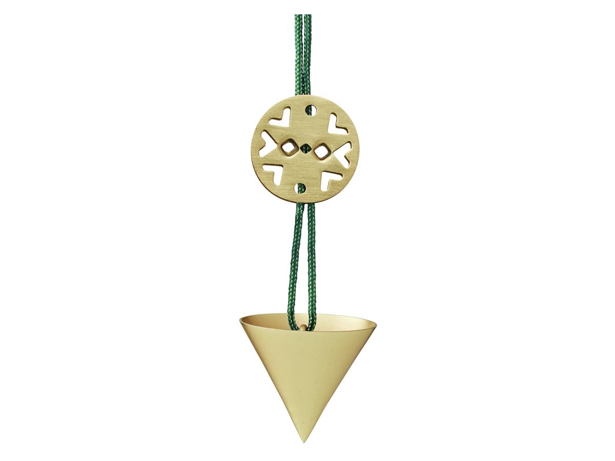 Stelton Nordic julornament kornett mini – mässing