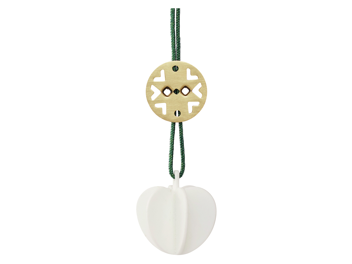 Stelton Nordic julornament hjärta, mini - keramik